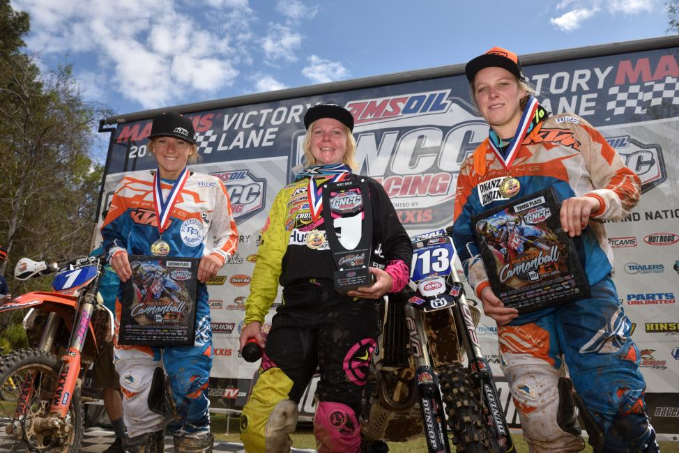 2017 GNCC - Round 3 - (2) Becca Sheets, (1) Tayla Jones, (3) MacKenzie Tricker