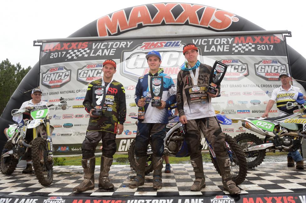2017 GNCC - Round 2 - XC2 250 Pro podium - Image: Ken Hill