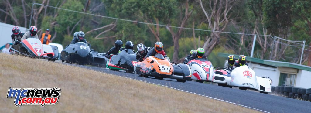 2017 Hartwell MCC - Round 2 - Mac Park - Sidecars - Starting grid