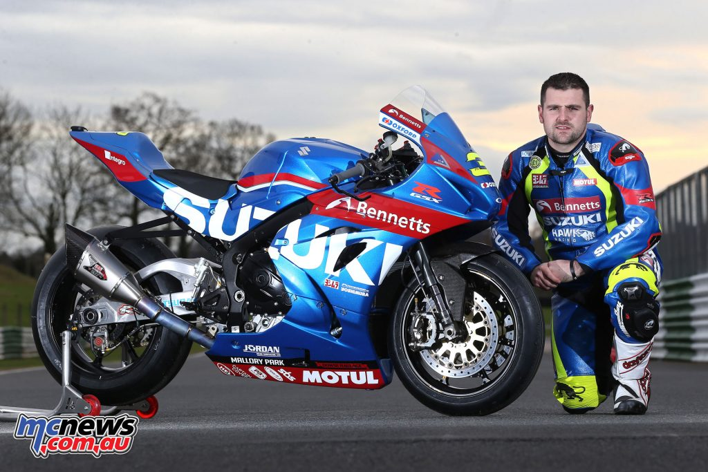 Michael Dunlop with the Bennetts Suzuki