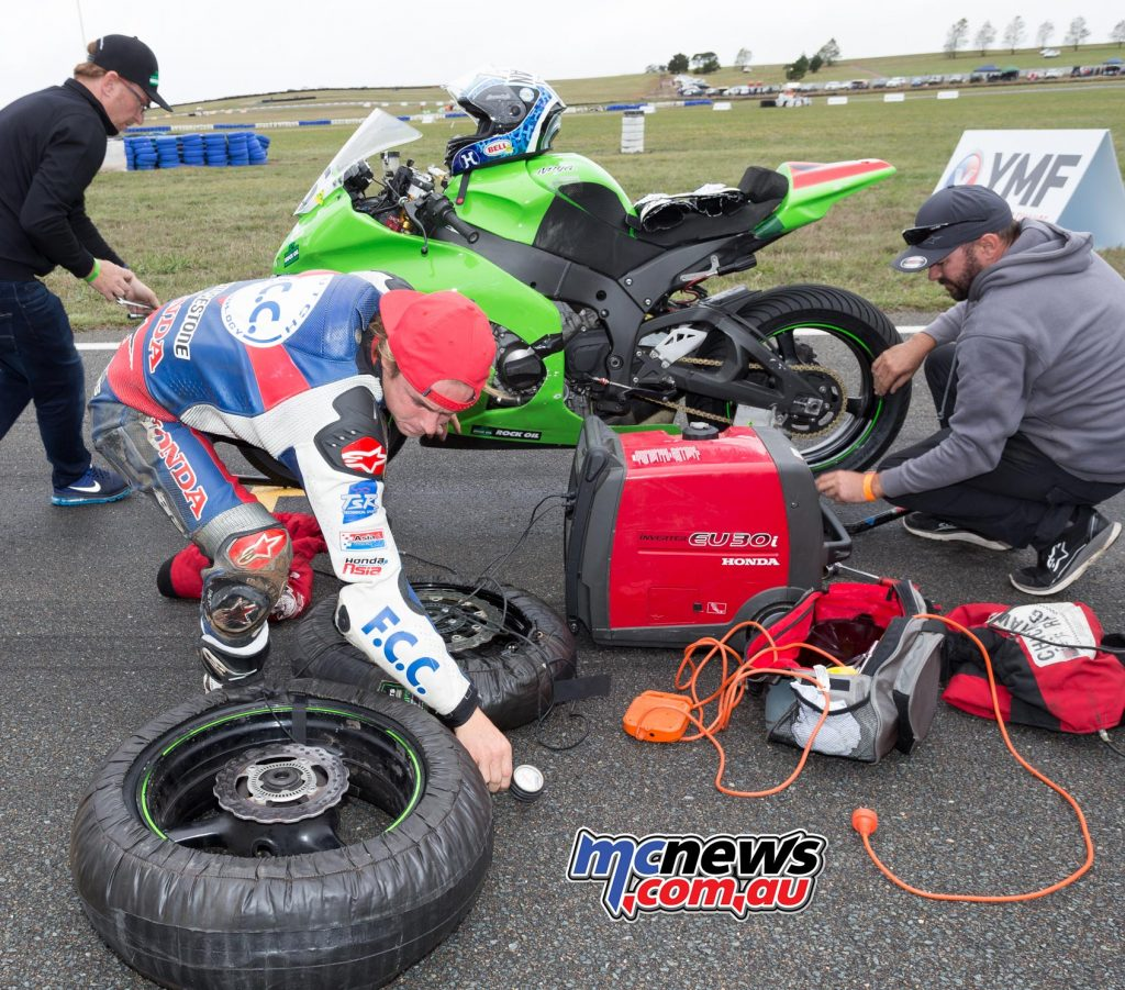 Josh Hook changes to slicks on the grid - Image by TBG