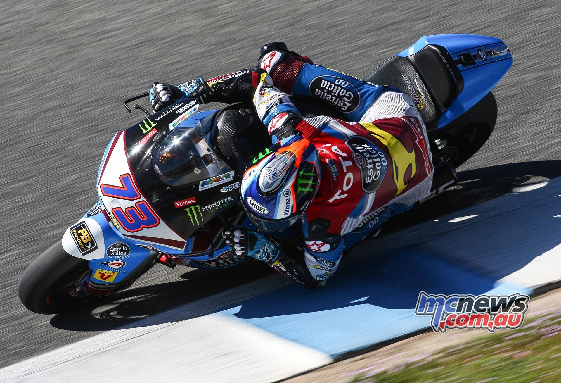 Alex Marquez below pole lap record as testing wraps up in Jerez