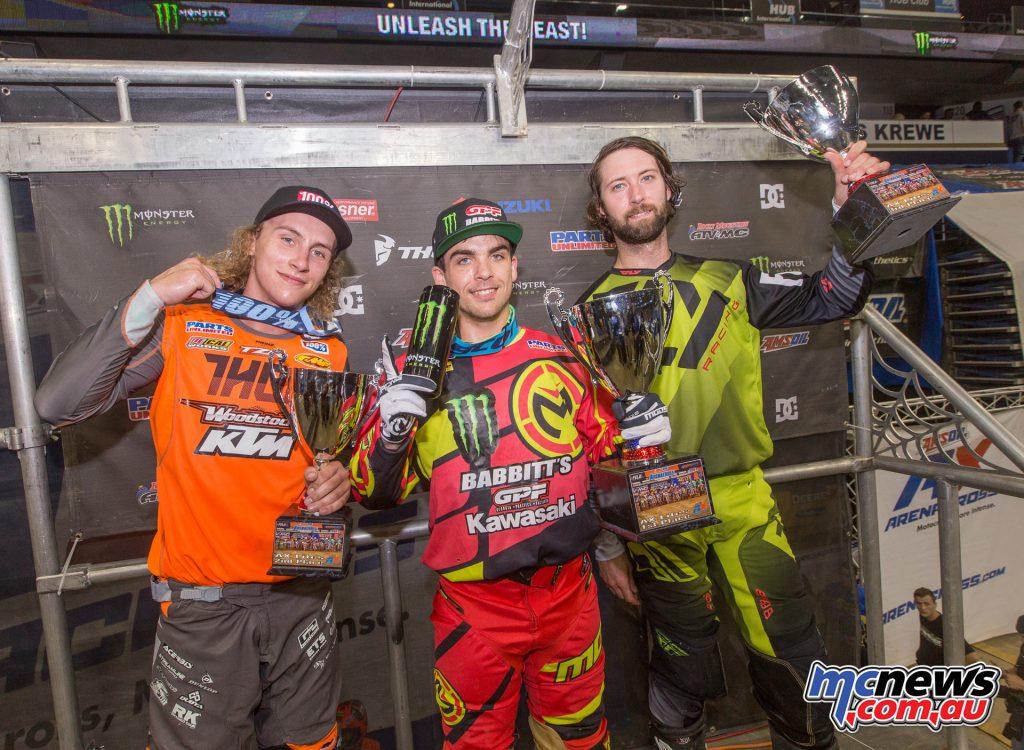 2017 Amsoil Arenacross - Round 9 - AX Lites Podium
