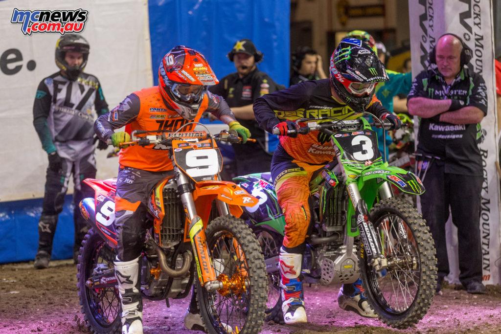 2017 Amsoil Arenacross - Round 9 - Daniel Herrlein and Travis Sewell