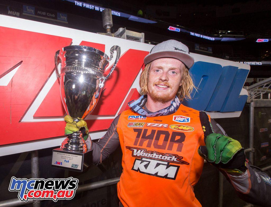 2017 Amsoil Arenacross - Round 9 - Daniel Herrlein takes the win