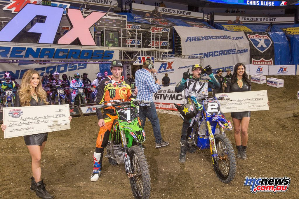 2017 Amsoil Arenacross - Round 9 - Head 2 Head - Faith and Blose