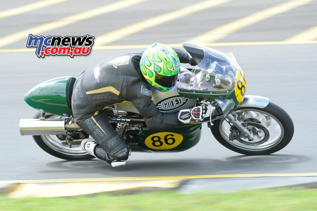 Cam Donald on the Vincent 500