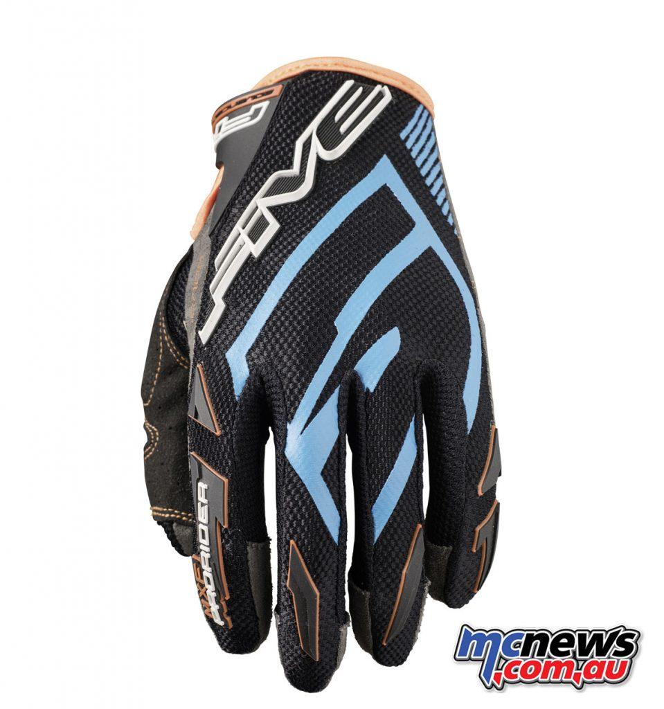 Five MXF ProRider S gloves - Blue Fluro Orange