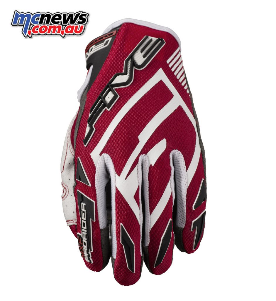 Five MXF ProRider S gloves - Red