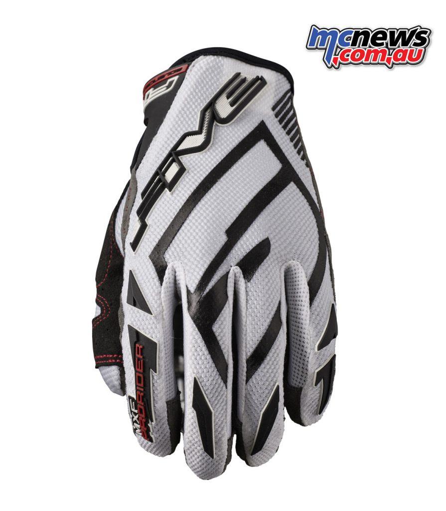 Five MXF ProRider S gloves - White