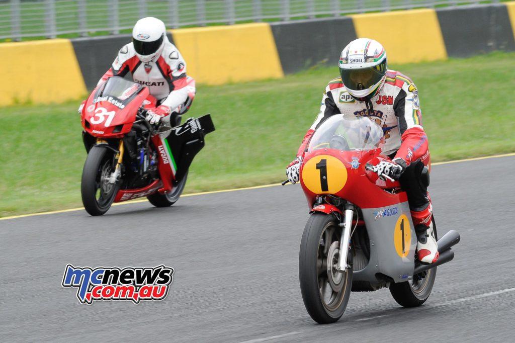 Giacomo Agostini and Peter Martin