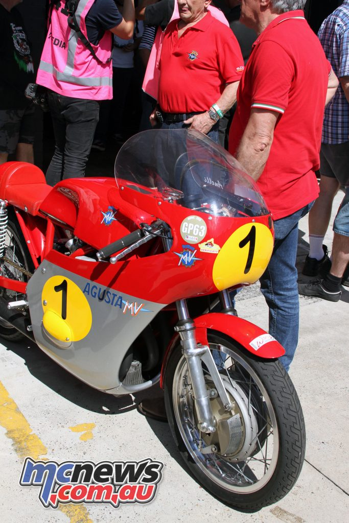 One of the MV Agusta's about to go on track at InterFoS.