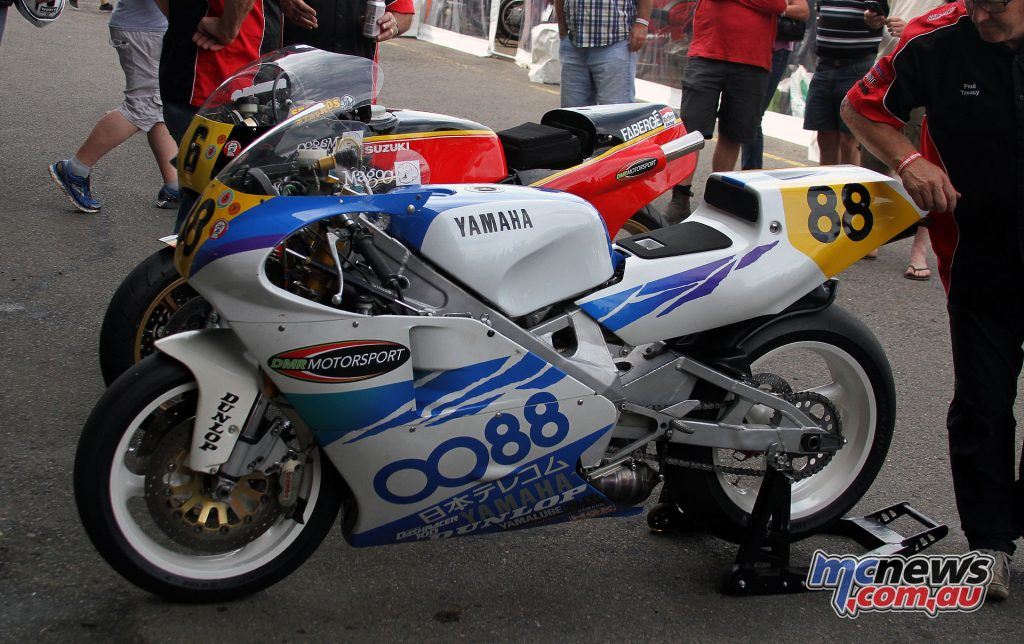 The Yamaha YZR500 ridden by Magee in the All Japan Championships