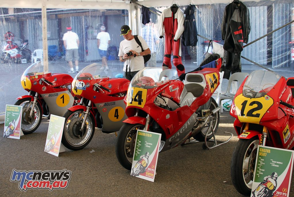 Agostini's MV Agusta and Cagiva display
