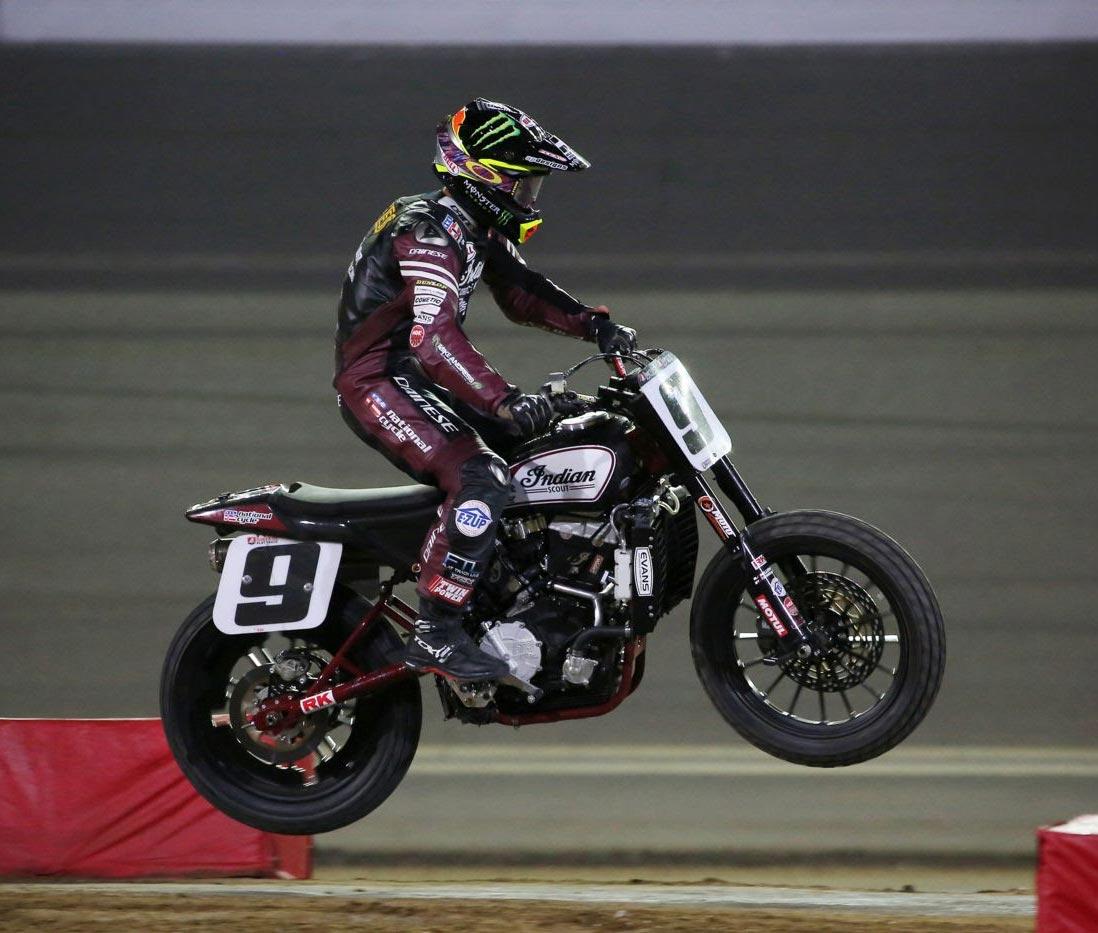 Jared Mees wins inaugural Harley-Davidson Daytona TT on Indian FTR750 - Image by American Flat Track/Mitch Friedman