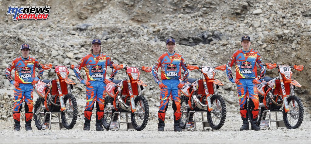 The 2017 KTM FIM Enduro Team: Josep Garcia, Daniel Sanders, Christophe Nambotin and Nathan Watson