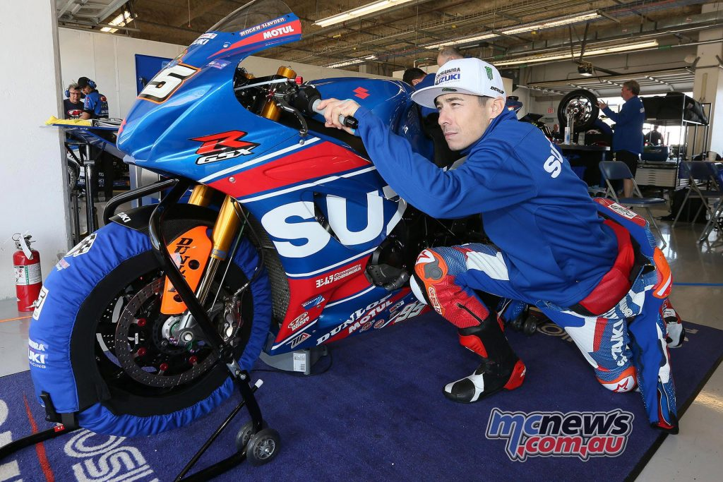 Roger Hayden rode his Yoshimura Suzuki to the fastest time at the COTA test - Photo by Brian J Nelson