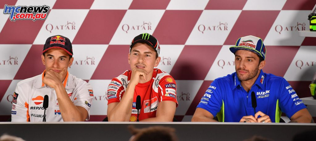 Márquez, Lorenzo, Iannone amused by the fan questions aimed at them