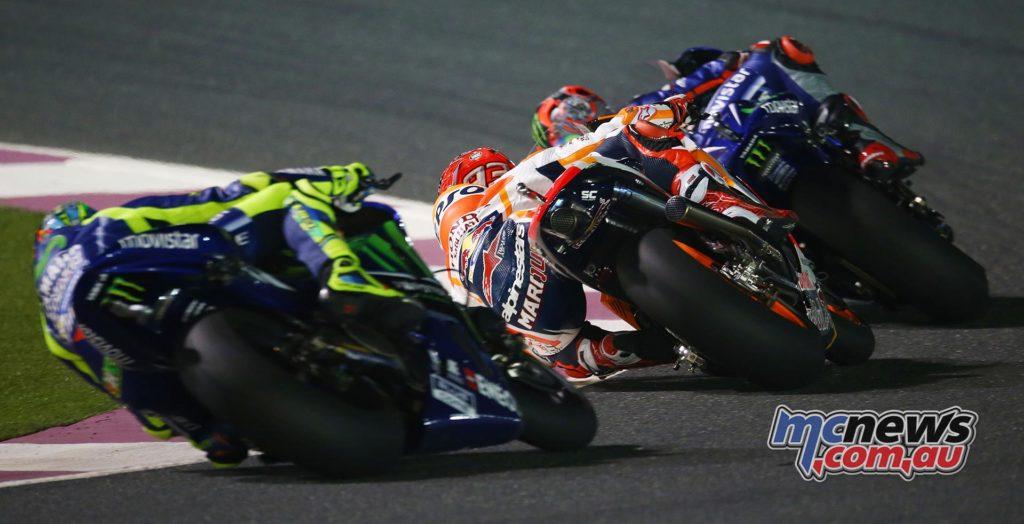 Vinales, Marquez, Rossi