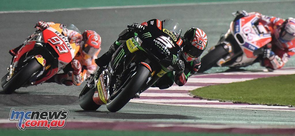 Johann Zarco leads Marquez and Dovizioso