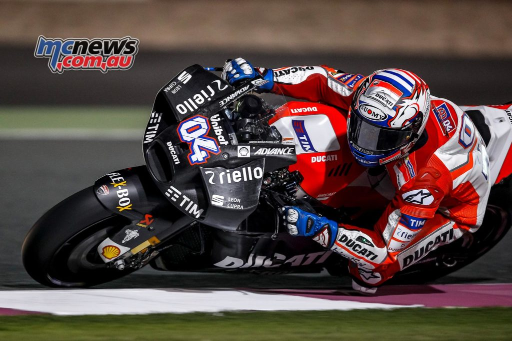 """Ducati's new """"aero-fairing"""" that stole the headlines - with a drastic new design unveiled in the latter stages of the second day on track."""