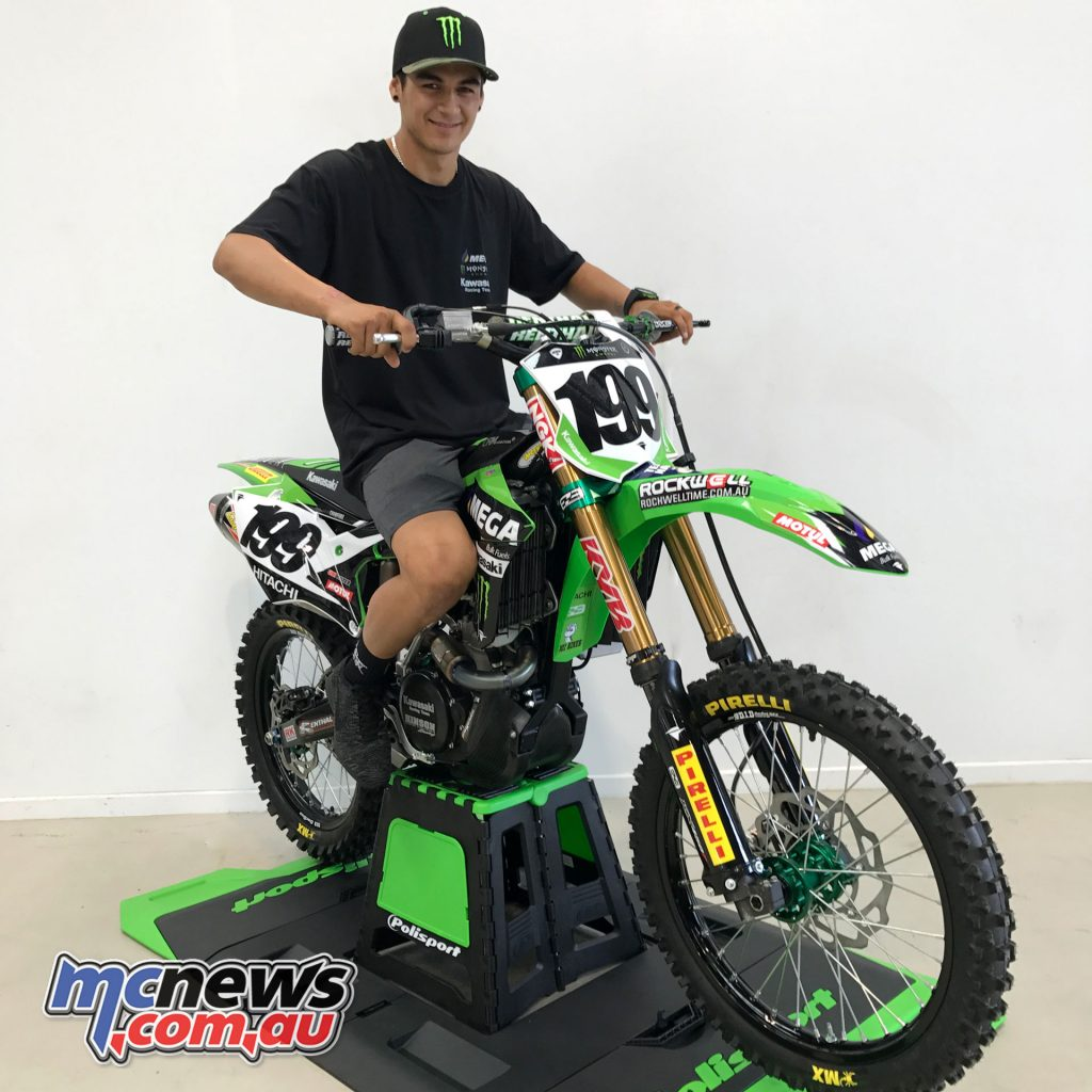 MEGA Bulk Fuels and Monster Energy affirm their support of the Australian Kawasaki factory motocross and supercross racing team. Nathan Crawford on his Kawasaki.