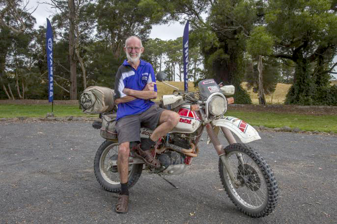 65-year-old Victorian David 'Beak' Murray was the oldest Tragic on the ride.