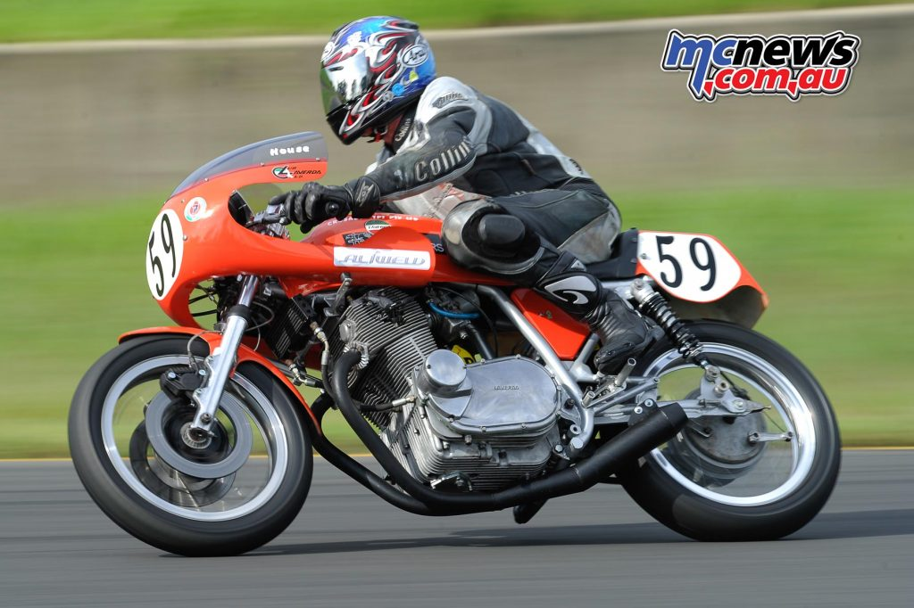 Phil Brewer on a Laverda SF750