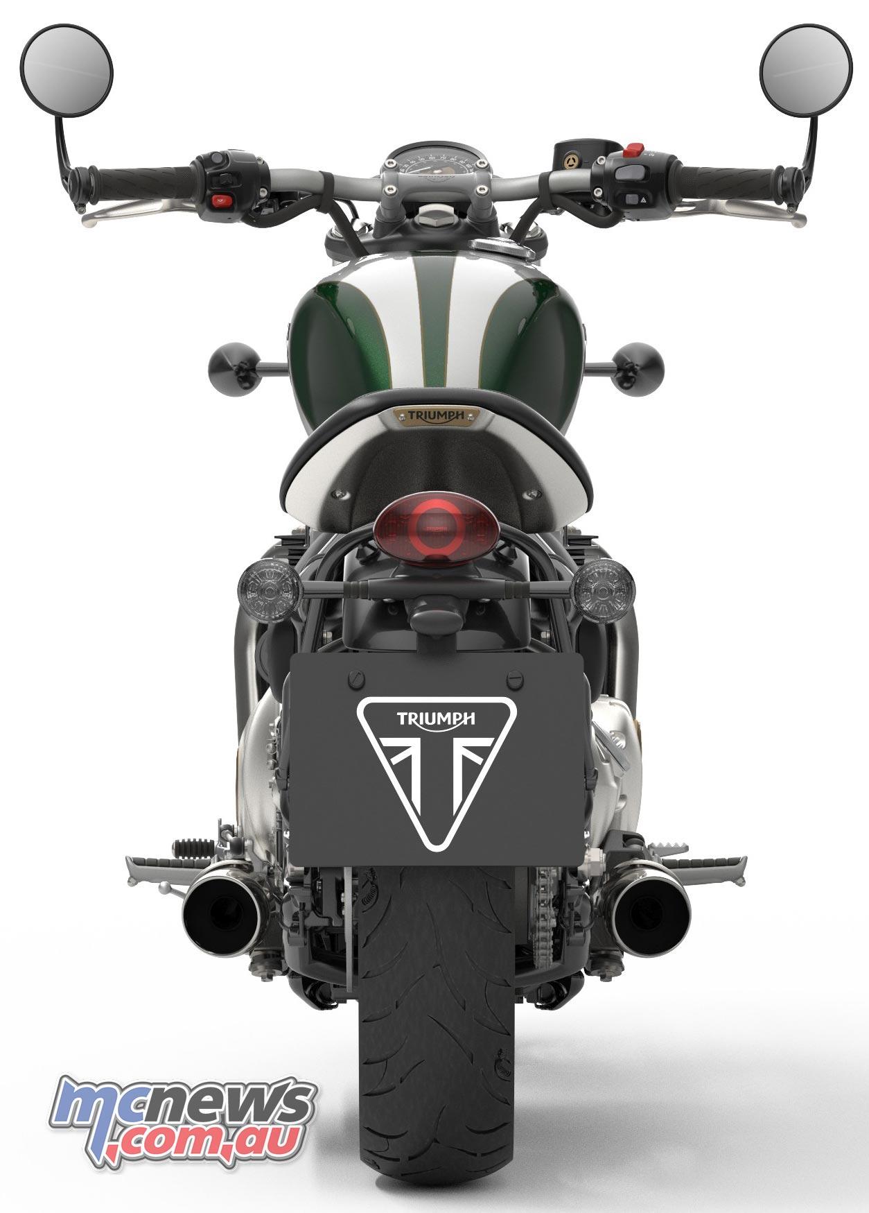 Triumph Bobber Green Rear
