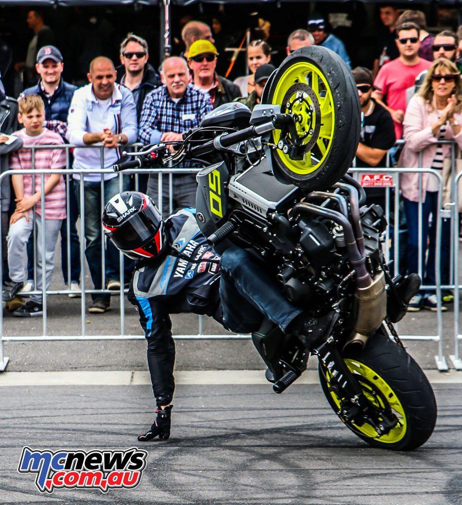 Dave McKenna Yamaha MT-09 Stunt Show