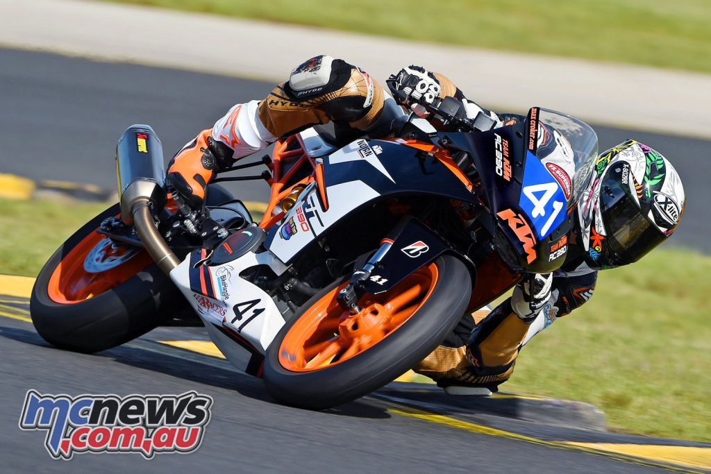 Max Croker leaves Rounds 1 and 2 the 400 Supersport leader