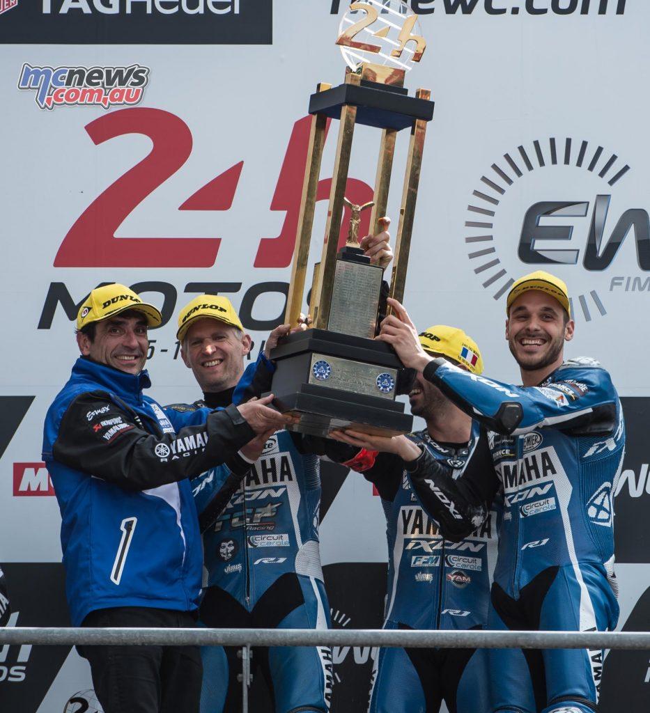 David Checa, Niccolò Canepa and Mike Di Meglio - GMT94 Yamaha Official EWC Team