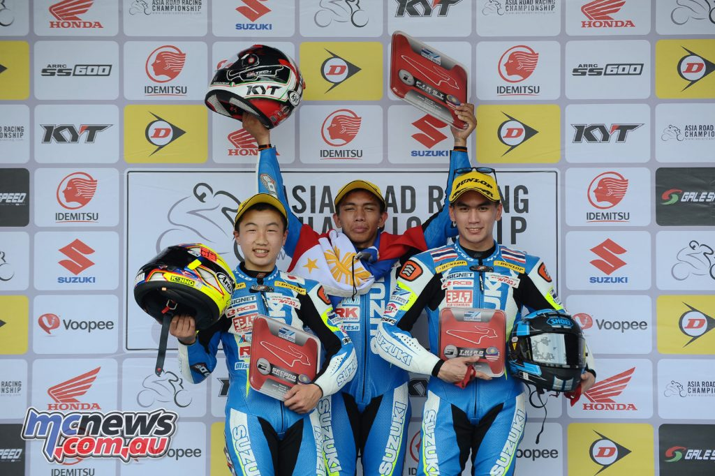 Suzuki Asian Challenge Podium