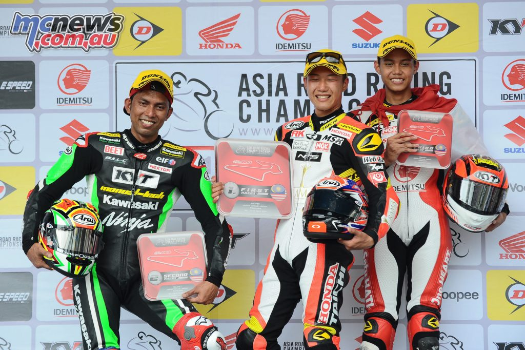 Supersport 600 Race 2 Podium