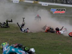 Thrills and spills in the 300 category at Winton