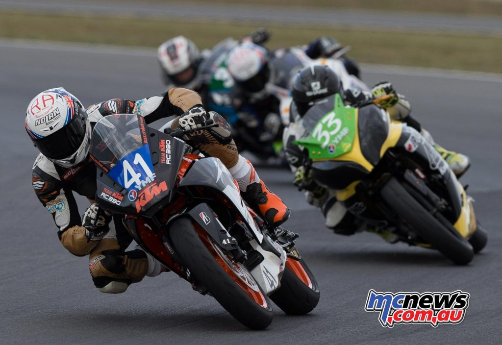 Max Croker in front at Winton - Image by TBG