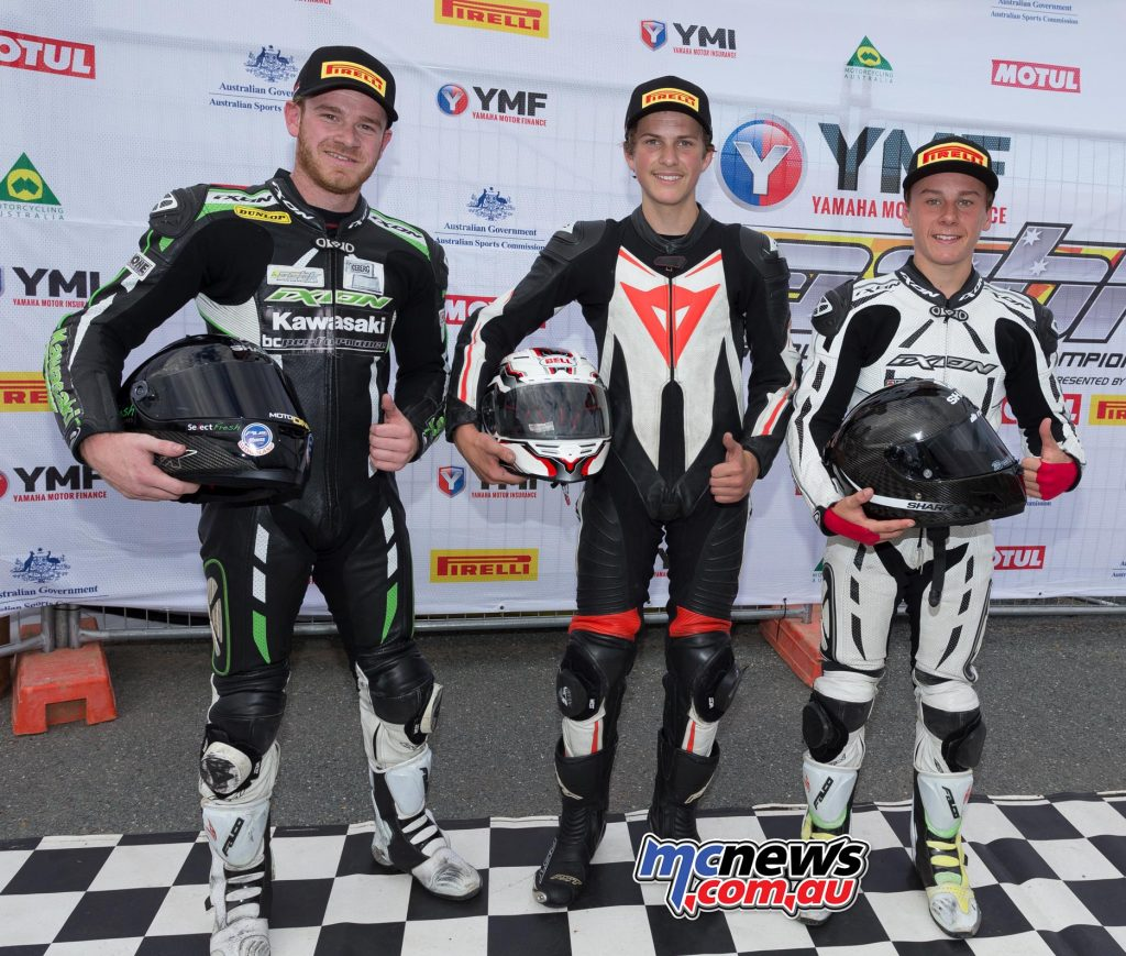 Supersport Under 300cc Podium - Image by Andrew Gosling