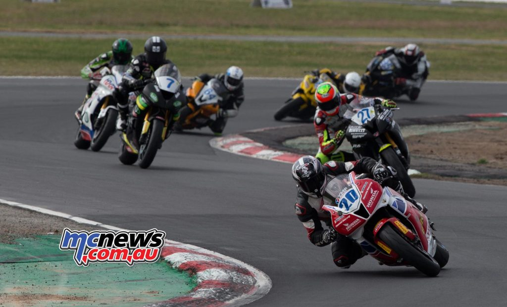 Damon Rees leads Nic Liminton and Tom Toparis at Winton
