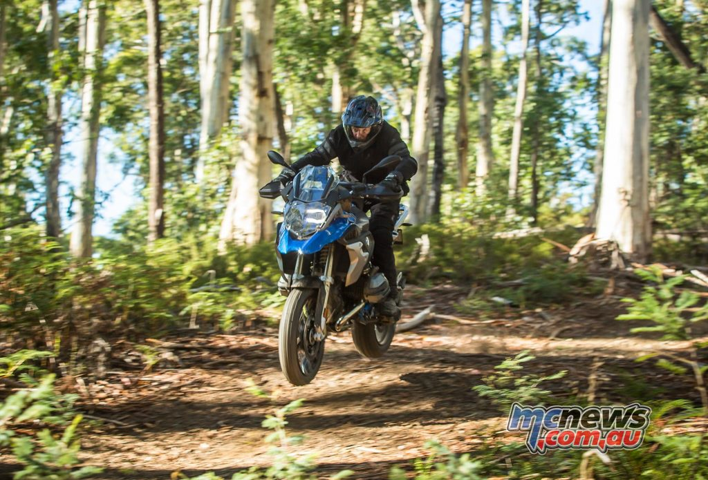The Enduro setting offers an off-road mode that greatly reduces electronic intrusion quicker riders