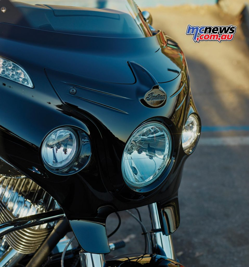 Indian Chieftain Limited - Colour matched headlight cowl