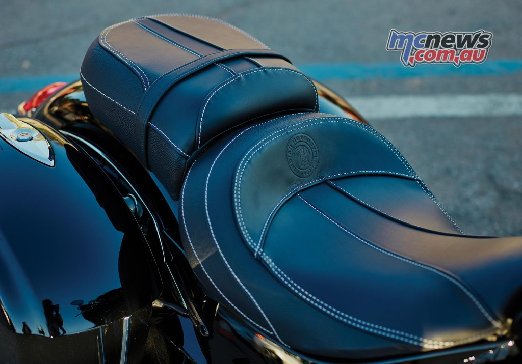 Indian Chieftain Limited - Restyled seat with contrast stitching