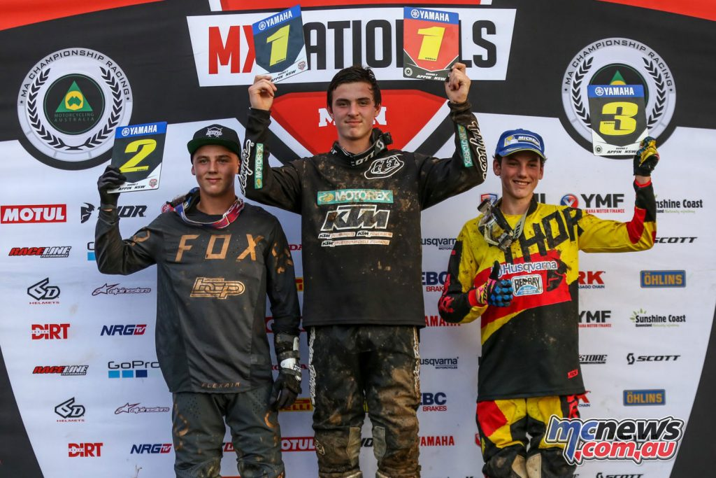 Mason Semmens took the top spot on the podium