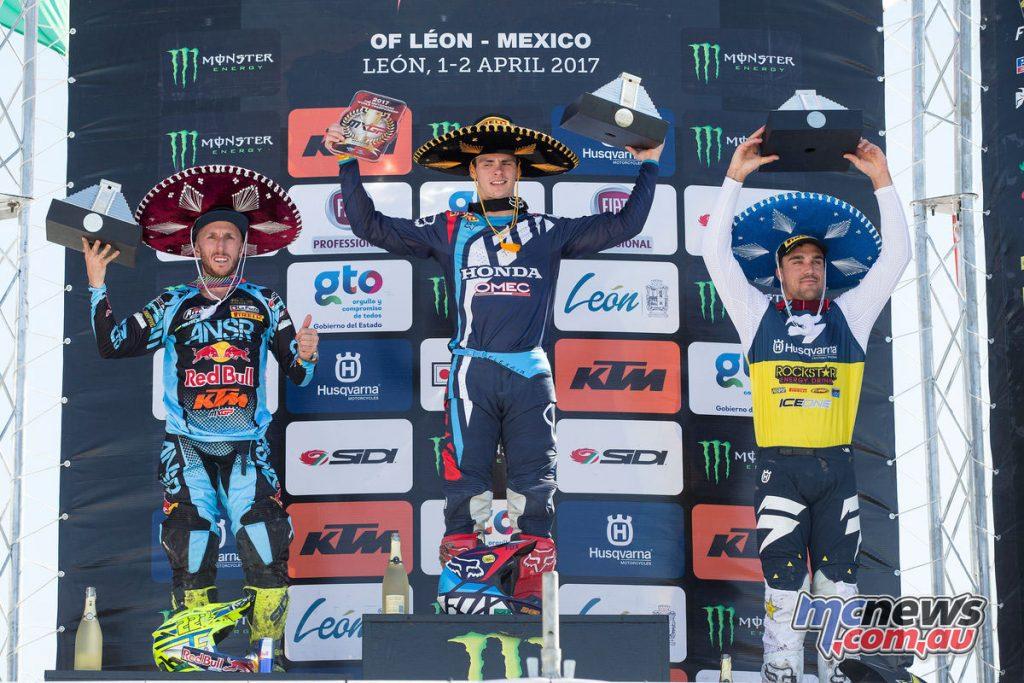 MXGP Round 4 - Leon Mexico - Podium