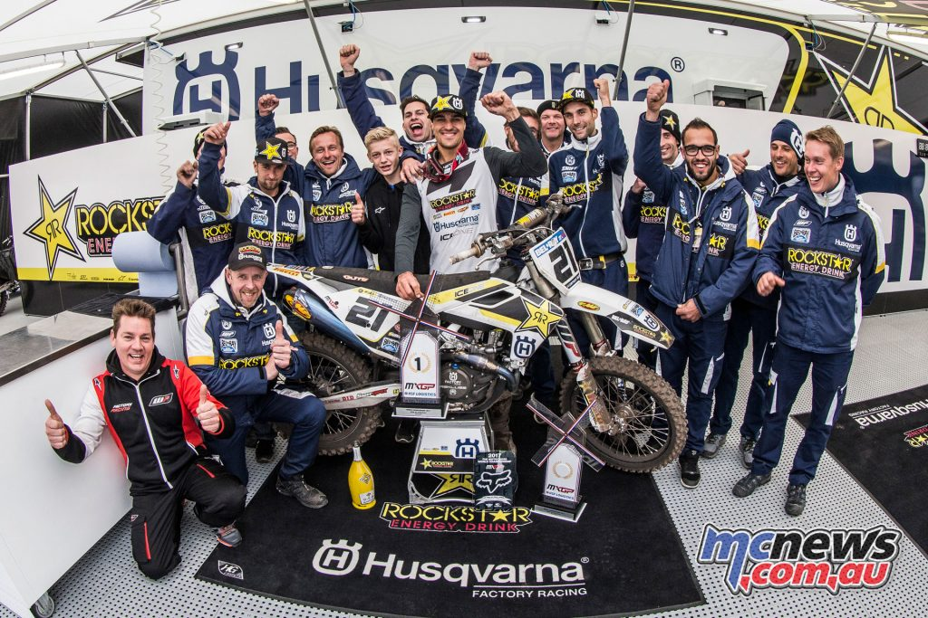 Gautier Paulin celebrates with his team