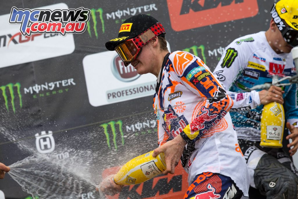 Pauls Jonass on the podium