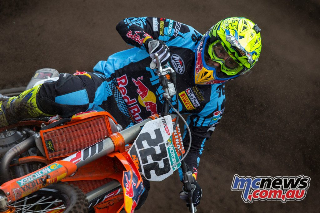 A poor start in Race 1 saw Tony Cairoli finish in ninth, followed by a stronger result in Race 2