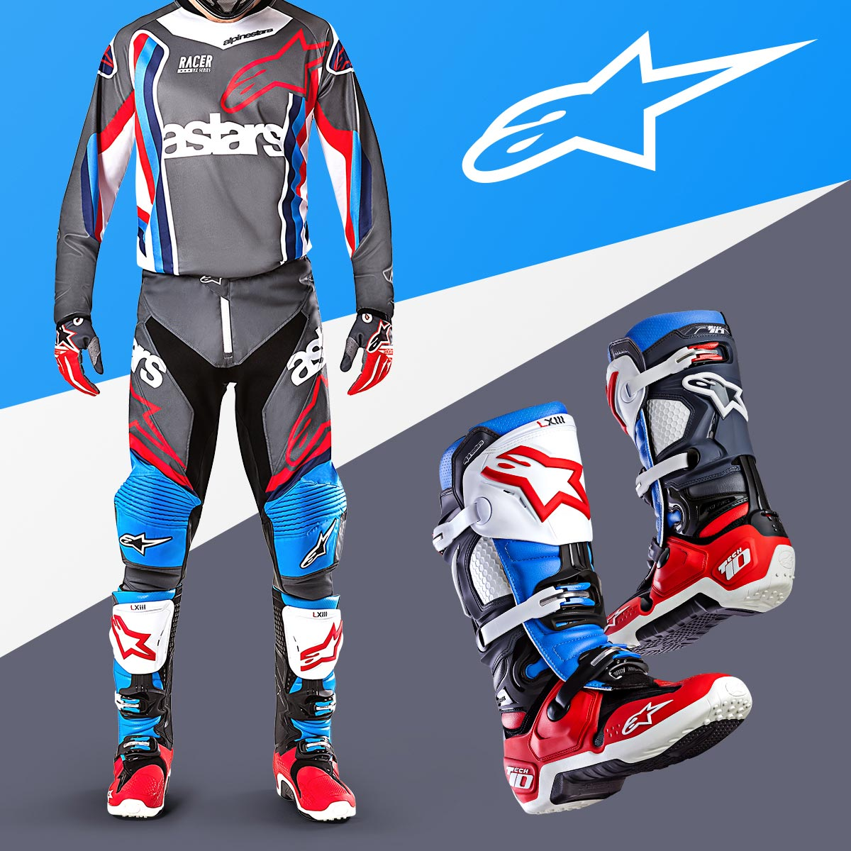 Alpinestars Limited Edition Bomber Gear and Tech 10 Boots