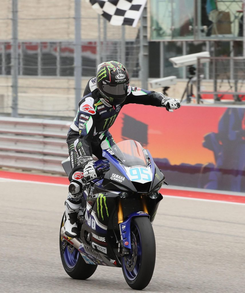 JD Beach takes victory in Supersport - MotoAmerica 2017 - COTA - Image by Brian J. Nelson