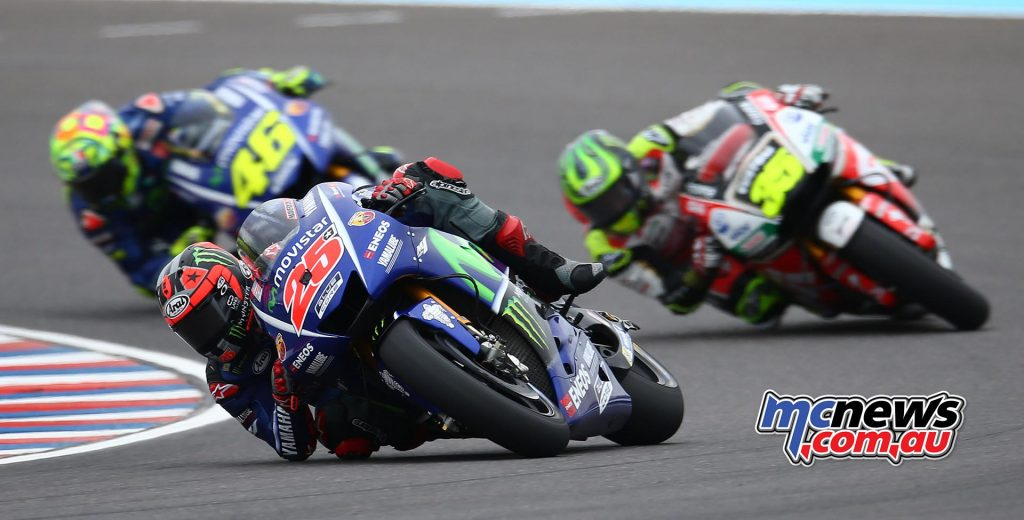 The top three in Argentina led by Vinales