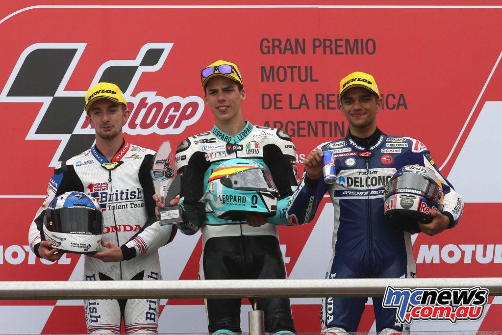 MotoGP of Argentina - Moto3 Podium